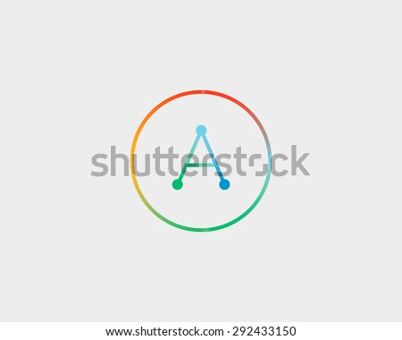 abstract letter logo design template colorful stock vector 292433150