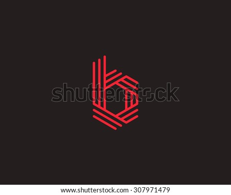Abstract letter b logo design template stock vector 307971479 abstract letter b logo design template line vector symbol premium elegant sign mark icon pronofoot35fo Image collections