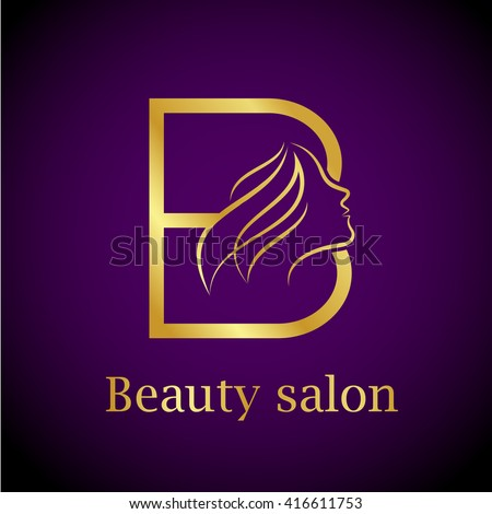 Letter b logo stock photos royalty free images vectors for A b beauty salon