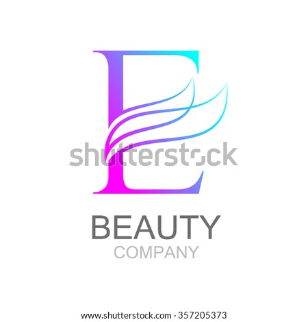 Abstract letter e logo design template stock photo photo vector abstract letter e logo design template with beauty industry and fashion logosmetics business thecheapjerseys Gallery