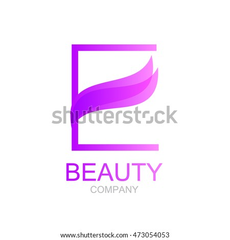 Abstract letter e logo design template stock vector 473054053 abstract letter e logo design template with beauty spa salons yogapurple altavistaventures Images