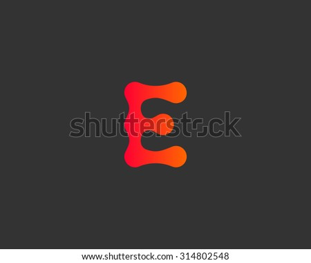 Abstract letter E logo icon vector design. Universal colorful biotechnology molecule atom dna chip symbol. Medicine, science, technology, laboratory, electronics logotype. - stock vector