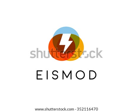 Abstract letter flash logo design. Energy creative symbol. Universal vector icon. Thunder bolt electrical sign. - stock vector
