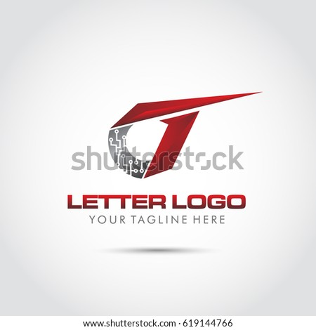 Abstract Letter G Logo Template Technology Stock Vector 619144766 ...
