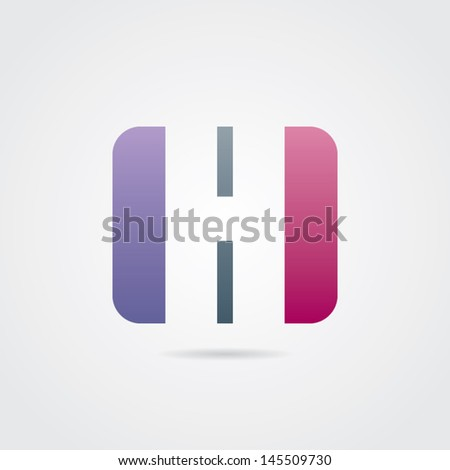 Abstract Letter H Icon - stock vector