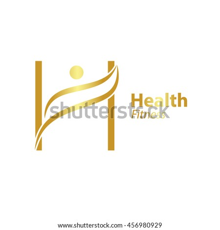 Abstract Letter H Logo Design Template Stock Vector