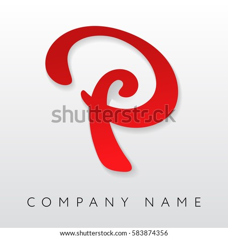 Abstract Letter P Logo Template. Letter P Logo For Business, Consulting,  Finance,  P&l Sheet Example