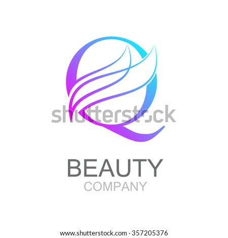 abstract letter q logo design template stock vector 357205376