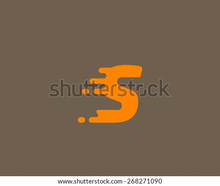 Abstract letter S logo design template.  Dynamic vector unusual font. Universal fast speed fire moving water quick energy drop icon. - stock vector