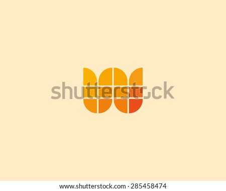 Abstract letter w m e logo design template. Colorful creative sign. Universal vector icon. Modern logotype symbol - stock vector