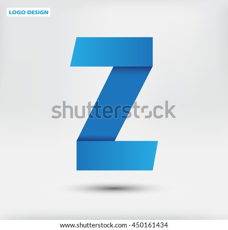 Abstract letter Z logo.Alphabet logo design.