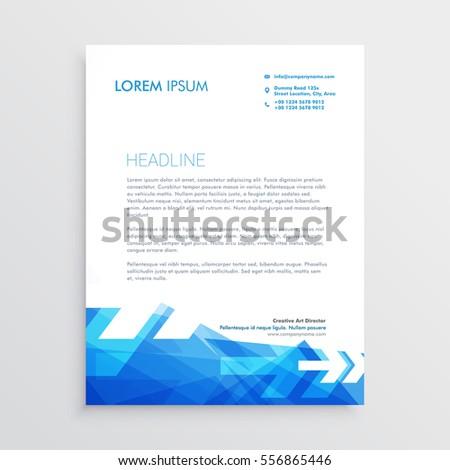 Abstract letterhead template blue arrow style stock vector hd abstract letterhead template in blue arrow style altavistaventures Image collections