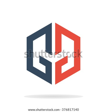 Abstract letters g g logo template stock vector royalty free abstract letters g and g logo template gg icon geometric letters g and g maxwellsz