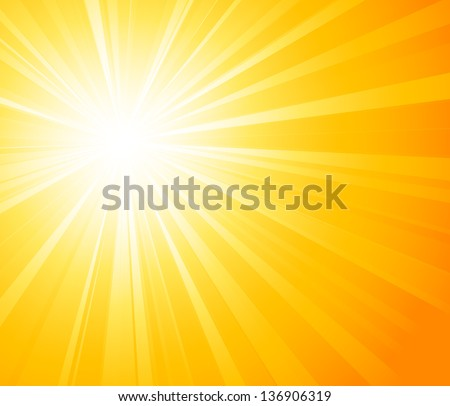 Abstract light background. Sun burst