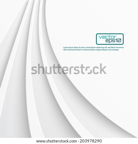 Abstract light background with curved lines. Vector illustration - stock vector