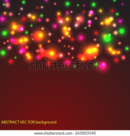 abstract light background  with glossy particle for your presentation or texts  - stock vector