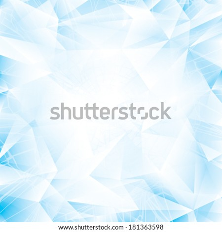Abstract light blue glass or ice background. - stock vector
