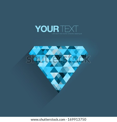 Abstract light blue triangle pattern diamond design  Eps 10 vector illustration - stock vector