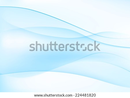 Abstract light blue wavy background. Vector illustration - stock vector