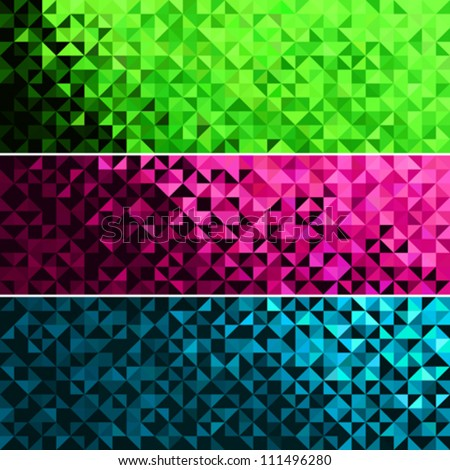 Abstract Light Brilliant Fun Holiday Banner Pattern. Bright Sparkle Blue Pink Green Vector Background - stock vector