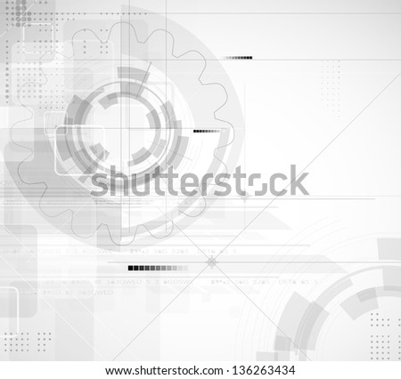 abstract light circuit gear high technology business background