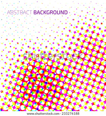 Abstract light colorful halftone background. Vector background - stock vector