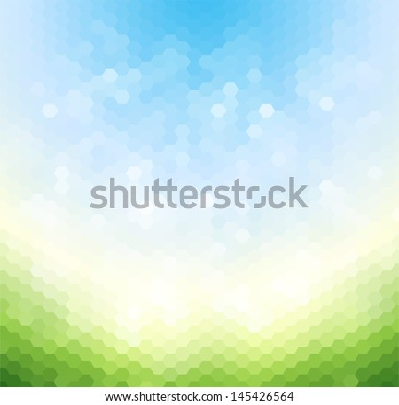 Abstract light geometric background - stock vector