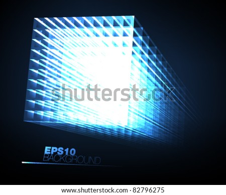 abstract light geometry -vector illustration - stock vector