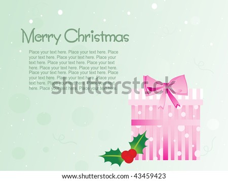 abstract light green background with gift box - stock vector