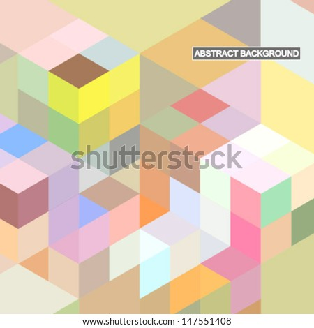 Abstract light retro background. Vector illustration. - stock vector