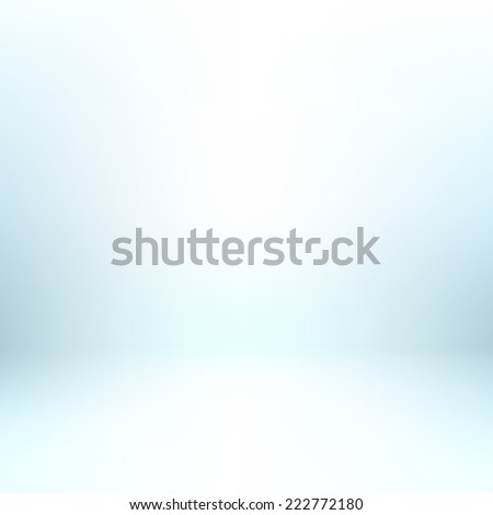 Abstract light sky blue illustration background texture of gradient wall and flat floor in empty spacious room interior - stock vector
