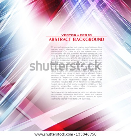 Abstract light techno background. Vector