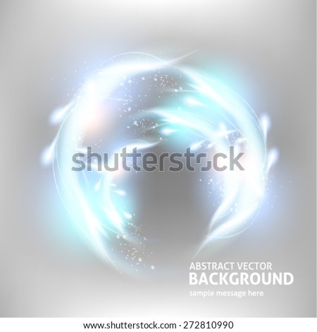 Abstract light vector background. Fully editable silver metal luxury design with bright elements to attract attention to your message. - stock vector