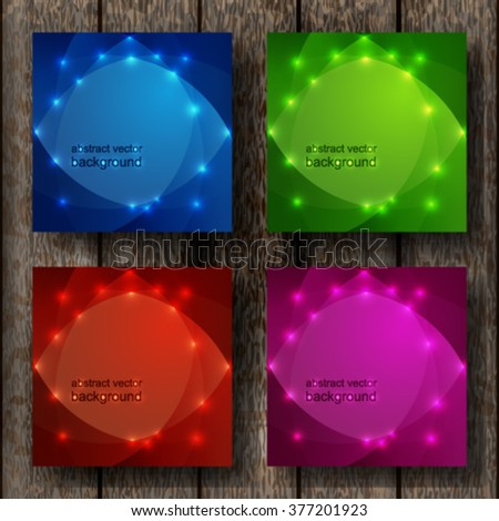 Abstract light vector background. set on wooden background