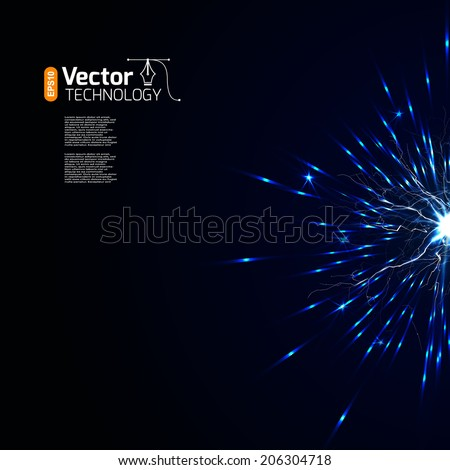 Abstract lightning storm background - stock vector