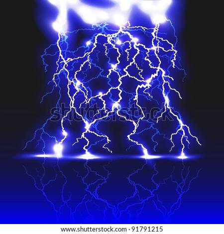 Abstract lightning strike.Vector eps 10 - stock vector