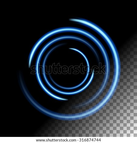 Abstract lights glowing lines on transparent background vector illustration. Easy replace use to any image. - stock vector