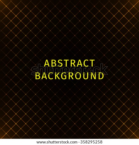 Abstract lights gold strips on dark background - stock vector