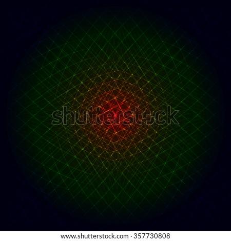 Abstract lights gradient strips on dark background - stock vector