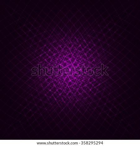Abstract lights magenta strips on dark background - stock vector