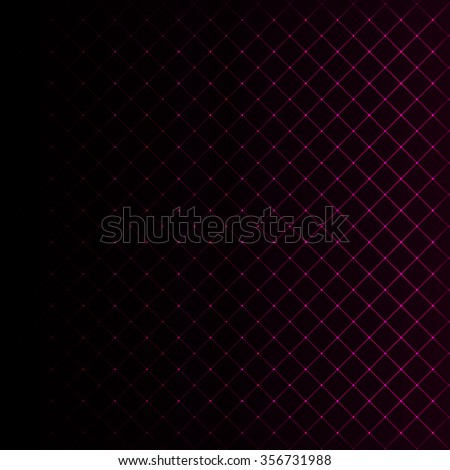 Abstract lights pink strips on dark background - stock vector
