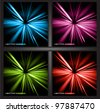 abstract lights vector background set - stock vector