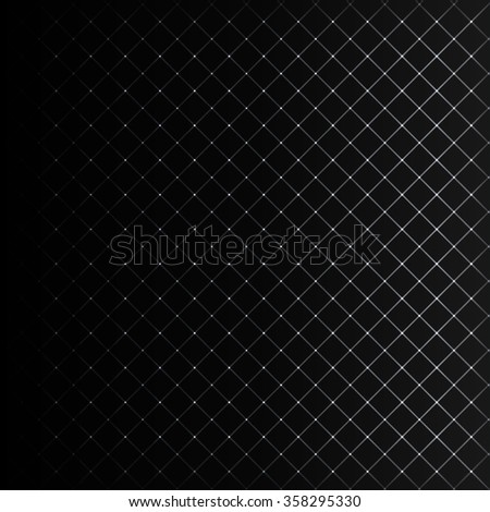 Abstract lights white strips on dark background - stock vector