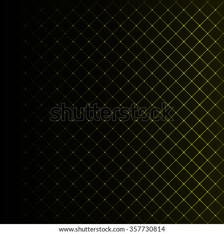 Abstract lights yellow strips on dark background - stock vector