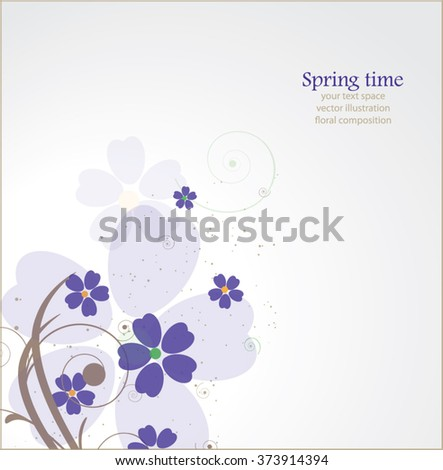 abstract lilac floral background - stock vector