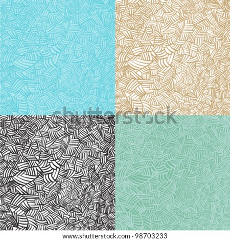 Abstract line doodle seamless pattern