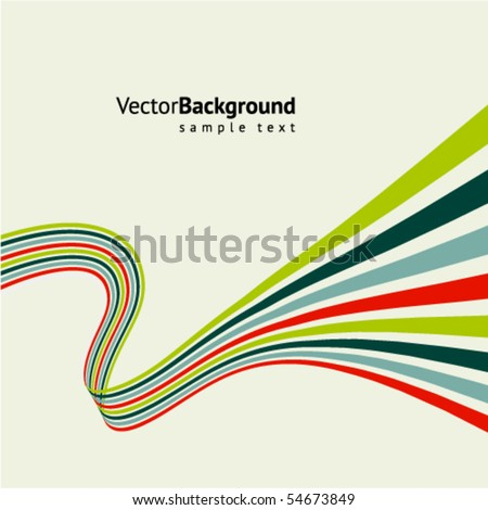 Abstract line vector background - stock vector