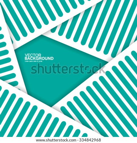 Abstract Lines and Shapes Design Background - stock vector
