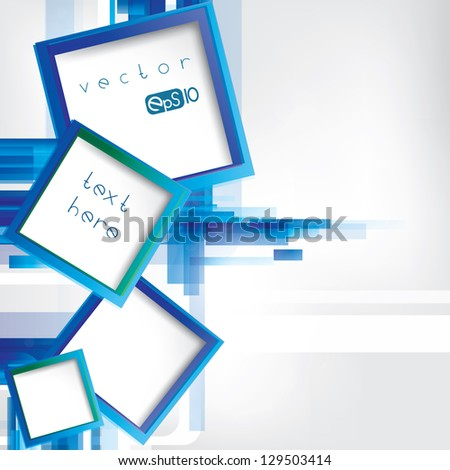 Abstract lines background with colored elements - stock vector