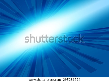 Abstract Lines Blue with Light Background, Vector Illustration